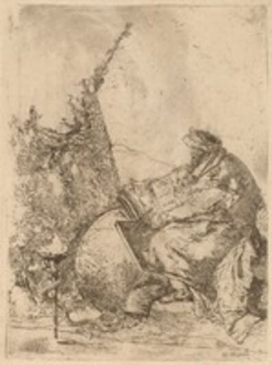 Giambattista Tiepolo, 'Philosopher Seated, with Globe, Book, and Compass'