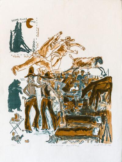 Warrington Colescott, 'A Wild West: Home on The Range', 1969