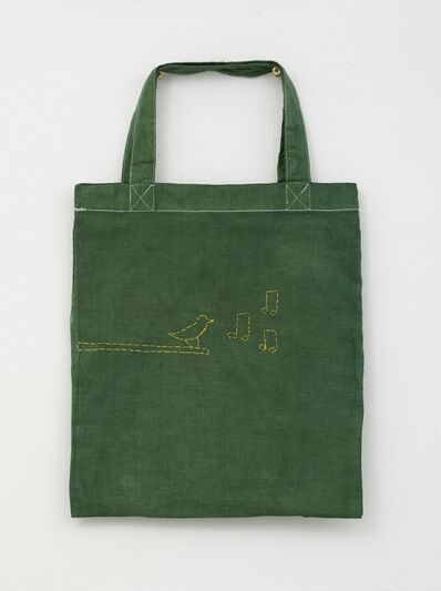 Noel McKenna, 'Green tote bag with bird on branch', 2019