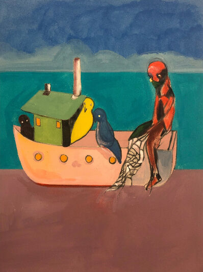 Ben Risk, 'Smith on a Steamboat with Birds', 2019