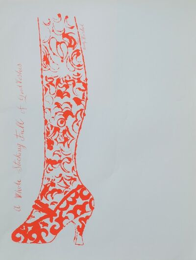 Andy Warhol, 'A Whole Stocking Full of Good Wishes', 1955