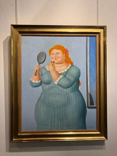 Fernando Botero, 'Woman With Lipstick', 2016