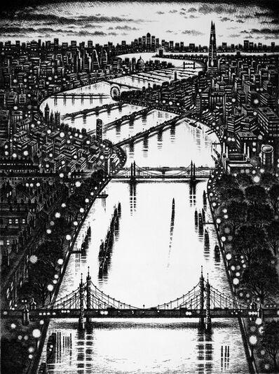 John Duffin, 'Thames Bridges East', 2015