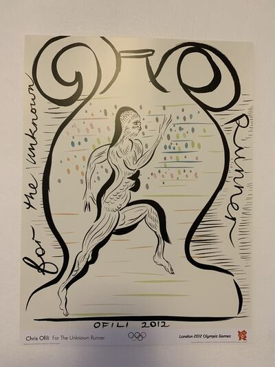 "Chris Ofili, '""FOR THE UNKNOWN RUNNER""', 2012"