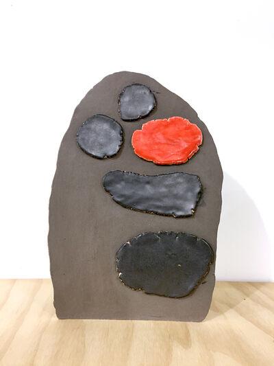 Keiko Narahashi, 'Untitled (Black/Red Spots on Brown)', 2017