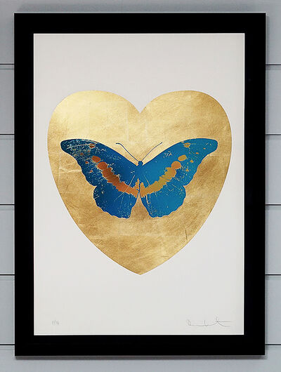 Damien Hirst, 'I Love You, Butterfly, Blue & Gold', 2015