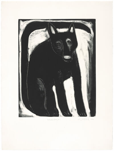 Judy Kensley McKie, 'Black Dog #1', 1990