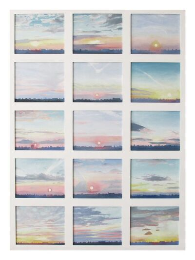 Emma Haworth, 'A Record of Sunsets in July 2013', 2014