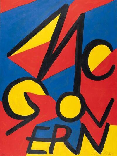 Alexander Calder, 'McGovern', 1972