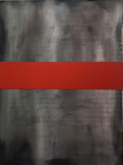 Johannes Wohnseifer, 'Bild mit Banderole (rot)', 2017