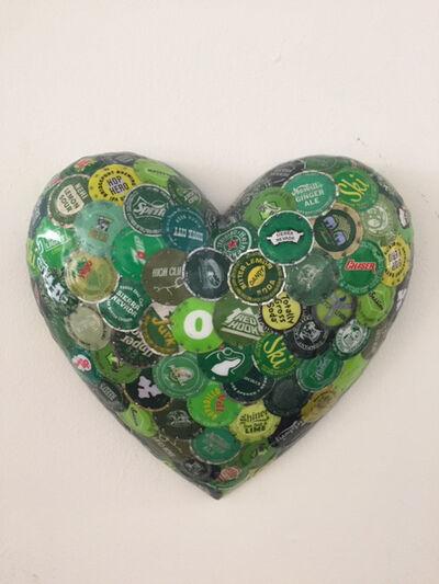 Dakota Pratt, 'Puffy Heart, Green', 2020