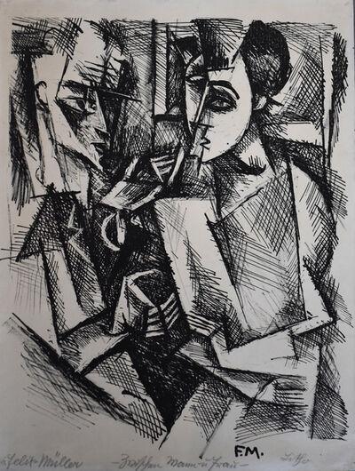 Conrad Felixmuller, 'Between Man and Woman | Zwischen Mann und Frau', 1917