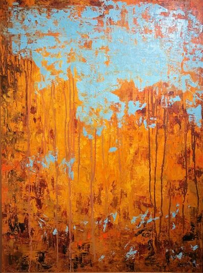 Elías José García, 'Orange & Blue Abstract ', 2016