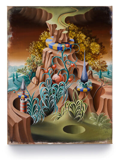 Peter Daverington, 'The Ecclesiastical Garden and the Sink Hole', 2016
