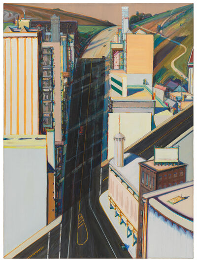Wayne Thiebaud, 'Sunset Streets', 1985