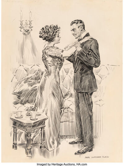 James Montgomery Flagg, 'Don't Make Me Cry, I'm Very Near It, Simon Jester interior book illustration', 1910