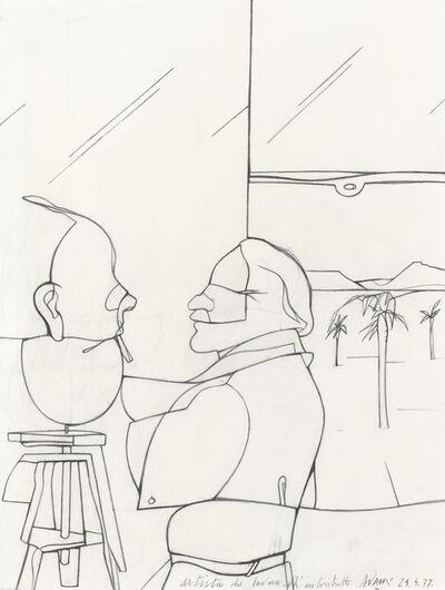 Valerio Adami, 'Artista que lavora all'autoritratto', 1977