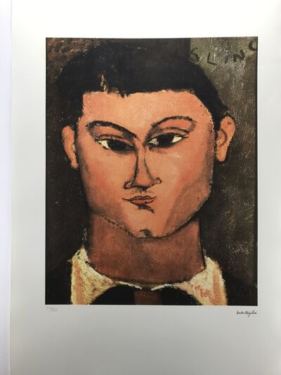 Amedeo Modigliani, 'Portrait de Moise Kisling (1915-1916)', Ca 1985