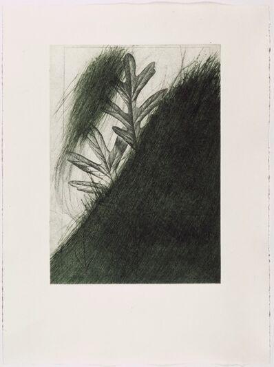 "Arnulf Rainer, 'Eichenblatt (from the portfolio ""For Joseph Beuys"")', 1986"