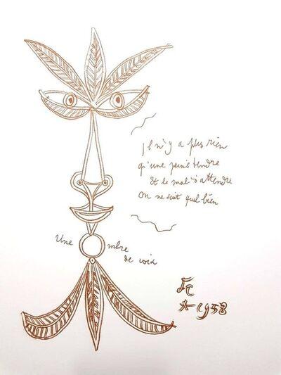 """Jean Cocteau, 'Original Lithograph """"The Voice"""" by Jean Cocteau', 1958"""