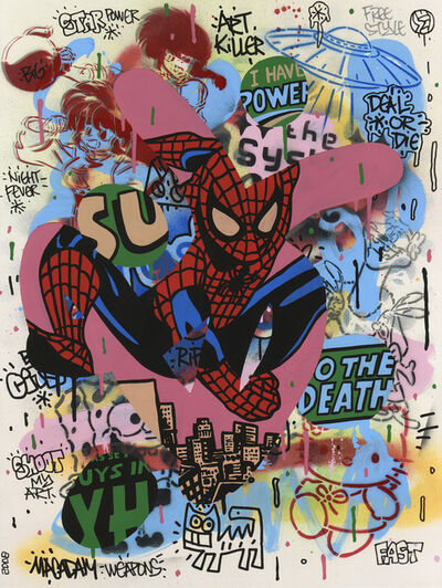 Speedy Graphito, 'Spiderman', 2008