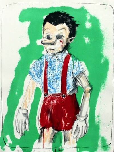 Jim Dine, 'Pinocchio coming from the Green', 2011