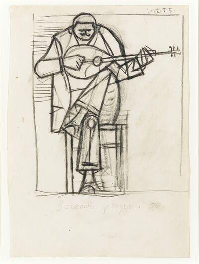 John Craxton, 'Bouzouki Player I', 1955