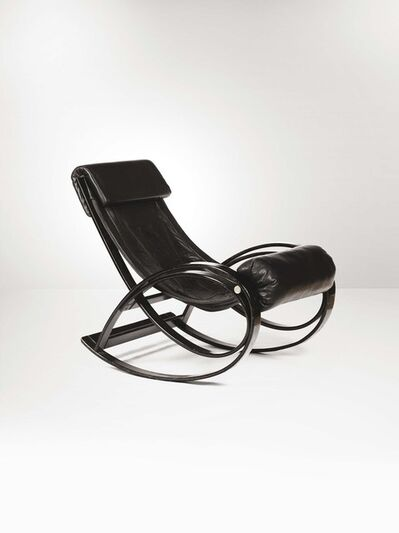 Gae Aulenti, 'A Sgarsul rocking chair with a curved wood structure', 1962