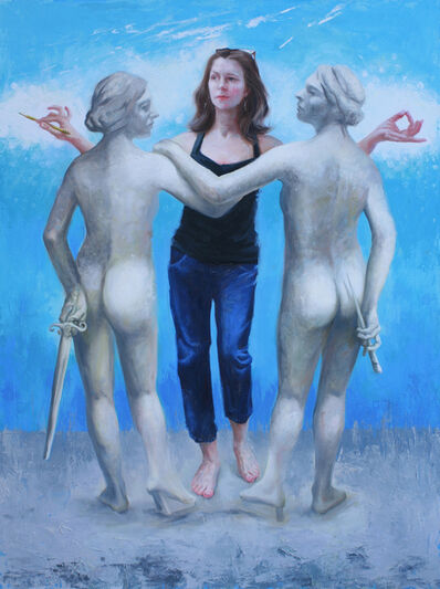 Judy Takács, 'The Three Graces: Nicole Alger as Wisdom, making peace with Courage and Creativity', 2020