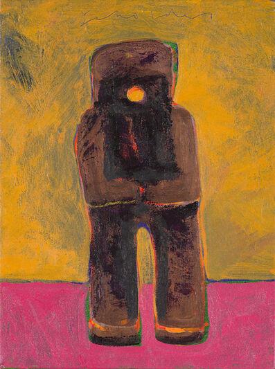 Fritz Scholder, 'Kachina (Yellow and Pink Background)', 2003