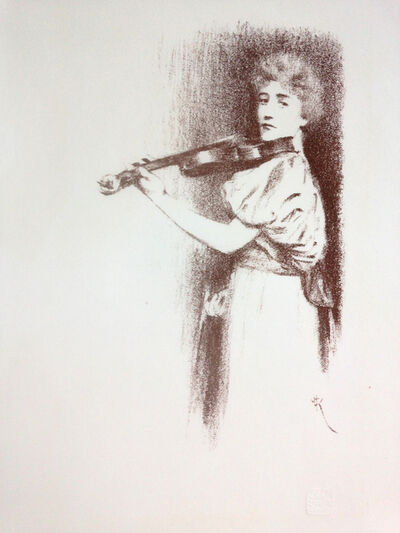 Fernand Khnopff, 'Une violoniste', 19898