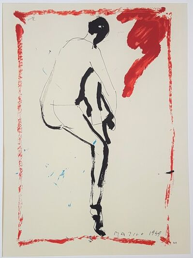 "Marino Marini, 'Nude from Behind - From ""A Suite of Sixty-three Re-creations of Drawings and Sketches in Many Mediums"" ', 1968"