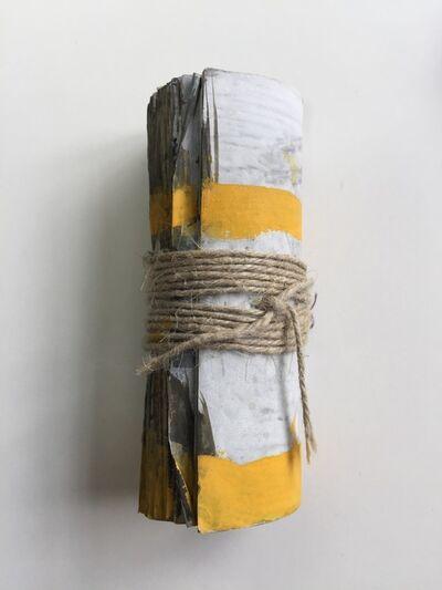 Inge Schmidt, 'gerolltes Heft, stehend mit Gelb', 2010-2019
