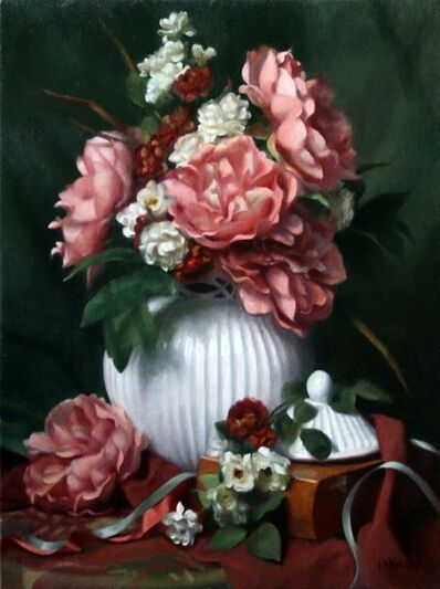 Lynne B. Mehlman, 'Peonies, Roses, and Ribbons', ca. 2015