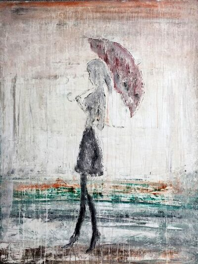 """Roger Konig, '""""Abstract Girl in the Rain No.2""""', 2017"""