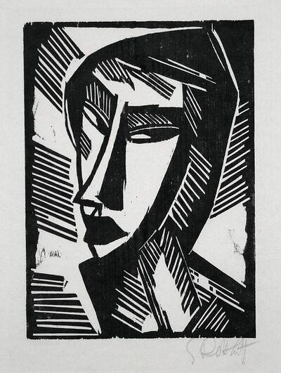 Karl Schmidt-Rottluff, 'Weiblicher Kopf (Female Head)', 1915