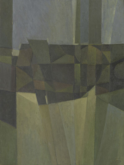 Alan Reynolds, 'Composition - Brown, Green and Grey', 1959