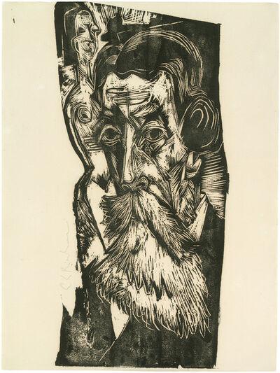 Ernst Ludwig Kirchner, 'Kopf Ludwig Schames', 1918