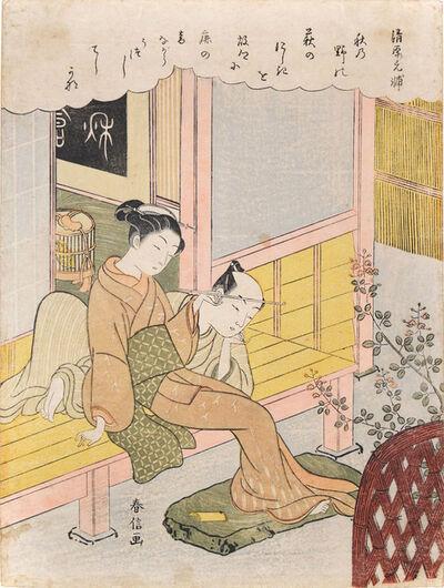 Suzuki Harunobu, 'Autumn', ca. 1768
