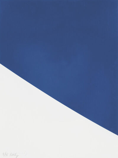 Ellsworth Kelly, 'Blue Curve, from Third Curve Series', 1999