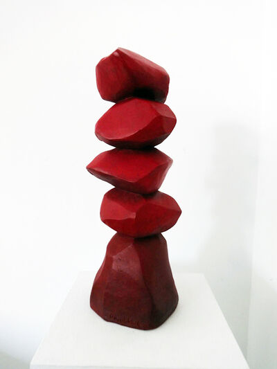 David Nash, 'Red Column', 2014