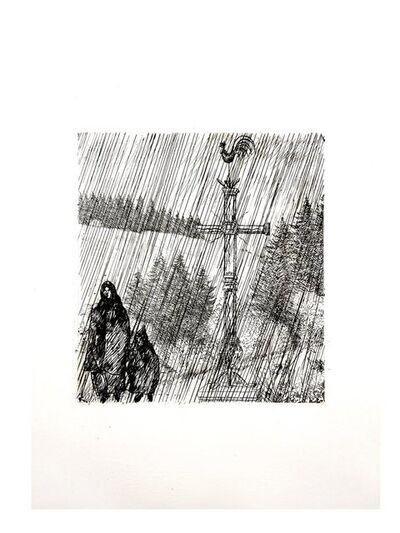 Jean-Emile Laboureur, 'Jean Émile Laboureur - Under the Cross - Original Etching', 1946
