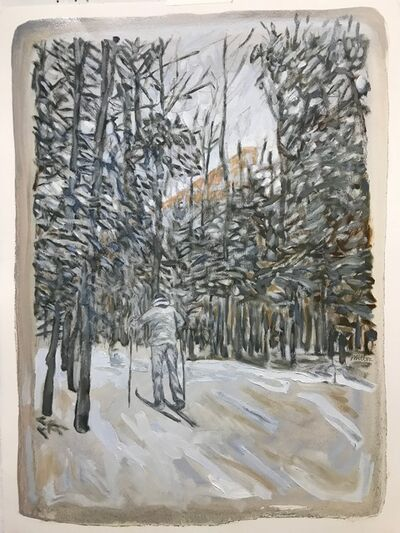 Edward Bear Miller, 'Grey Skier', 2017