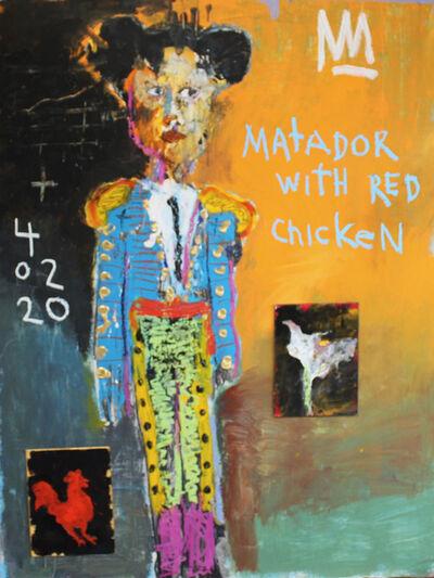 Michael Snodgrass, 'Matador with red chicken', 2020