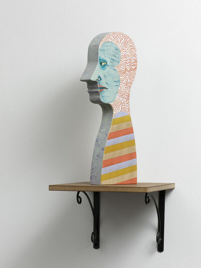 Ed Templeton, 'Disaster head with stripes', 2008