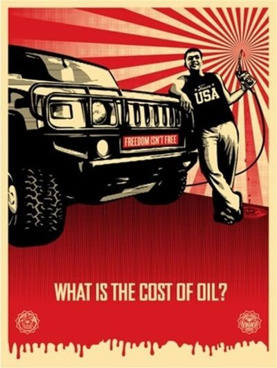 Shepard Fairey, 'Cost of Oil', 2008