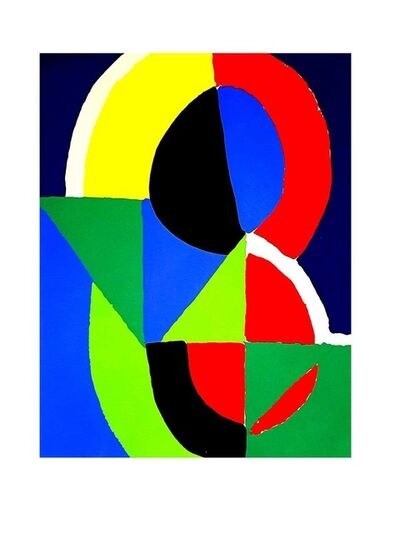"Sonia Delaunay, 'Pochoir ""Composition"" after Sonia Delaunay', 1956"
