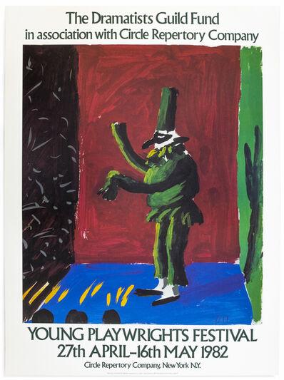 David Hockney, 'Vintage David Hockney poster Young Playwrights Festival 1982', 1982