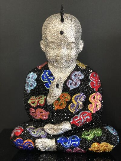 "Metis Atash, 'PUNKBUDDHA Large ""THE WORLD IS MY OYSTER"" feat. Warhol', 2019"