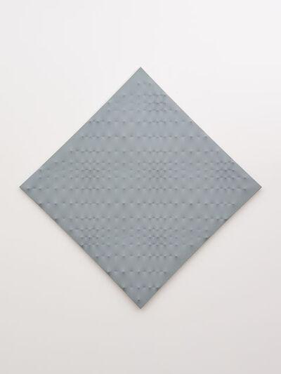 Enrico Castellani, 'Superficie grigio', 1989